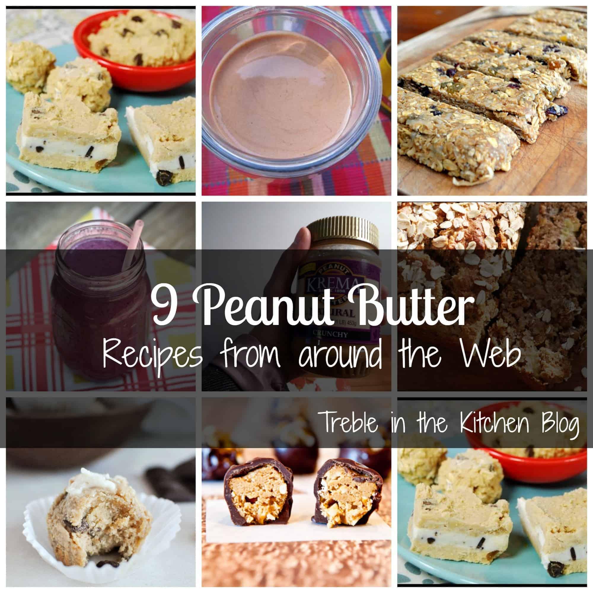peanut butter recipe roundup text