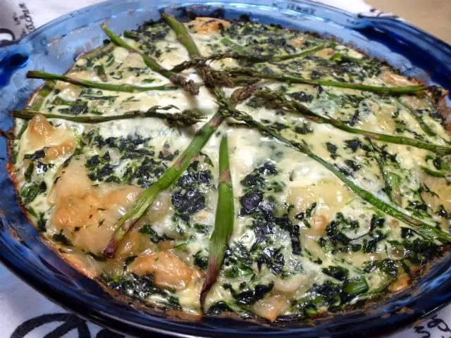 Spinach Asparagus Swiss Quiche 3