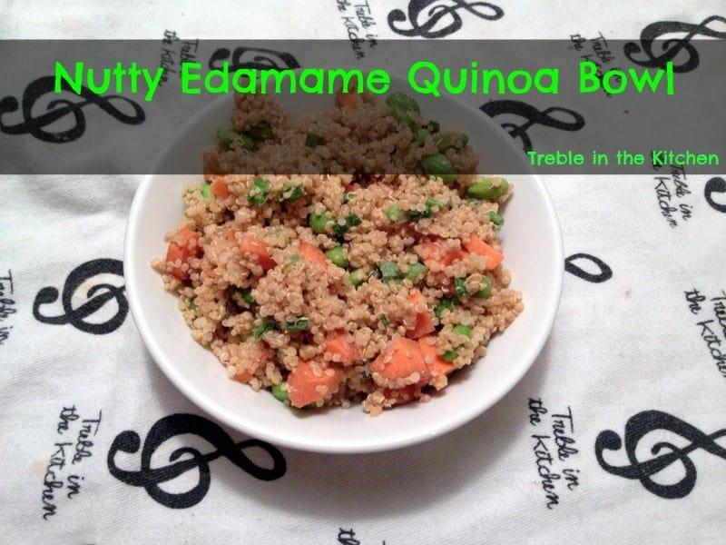 nutty edamame quinoa bowl