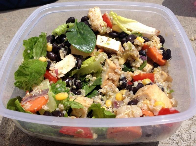 quinoa veggie salad lunch