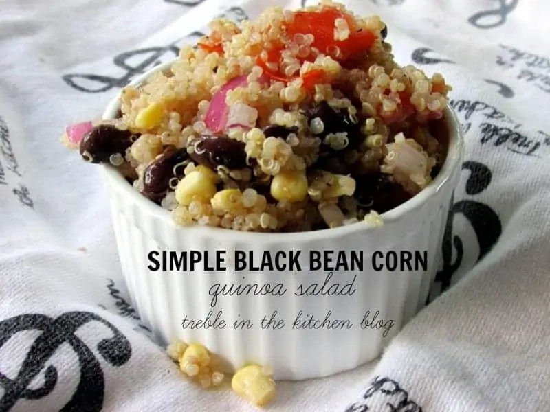 black bean corn quinoa salad