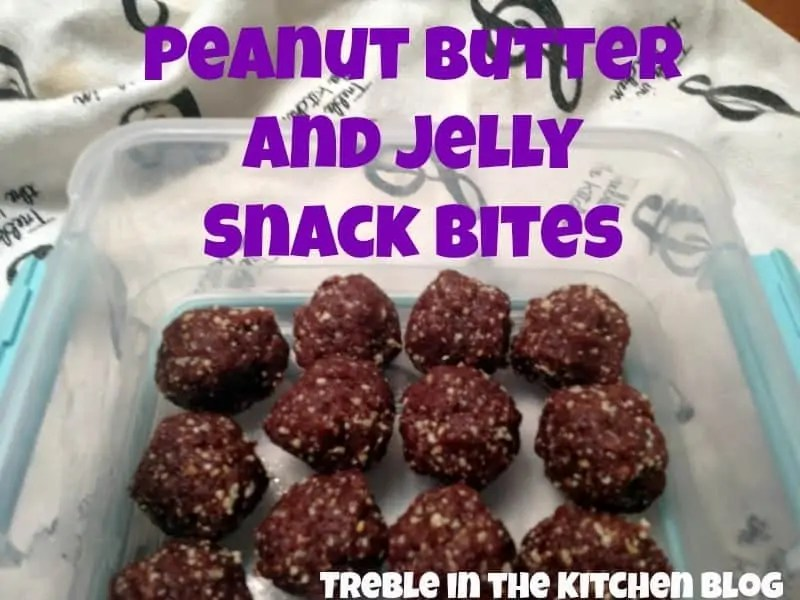peanut butter and jelly snack bites text