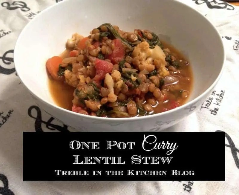 One Pot Curry Lentil Stew via Treble in the Kitchen