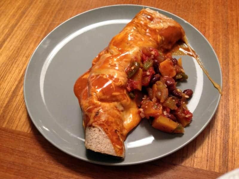 butternut black bean enchilada