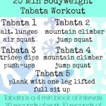 Whole 30 Week 1 Review AND 20 Min Bodyweight Tabata Workout