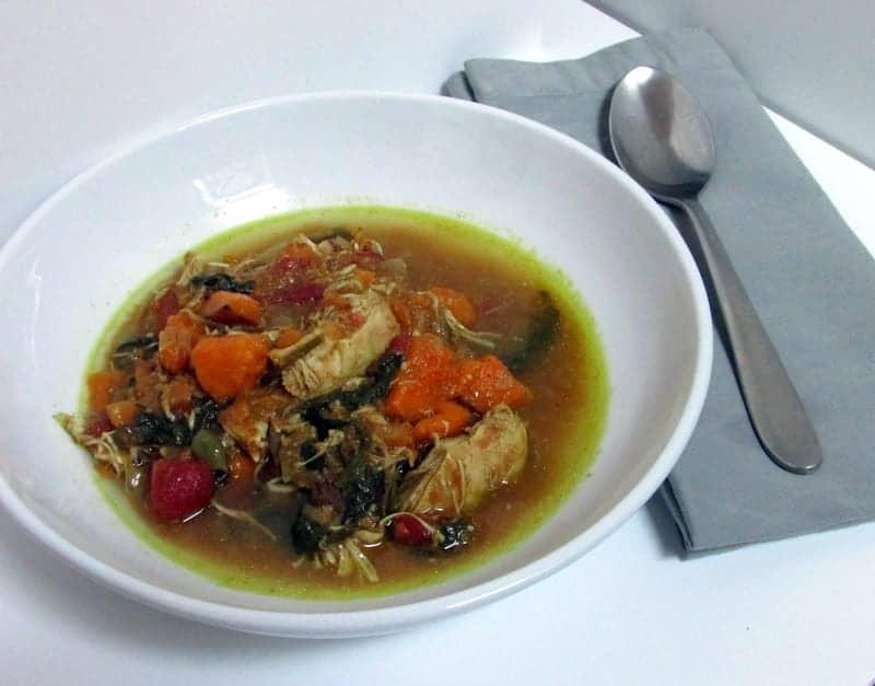 chicken sweet potato spinach curry