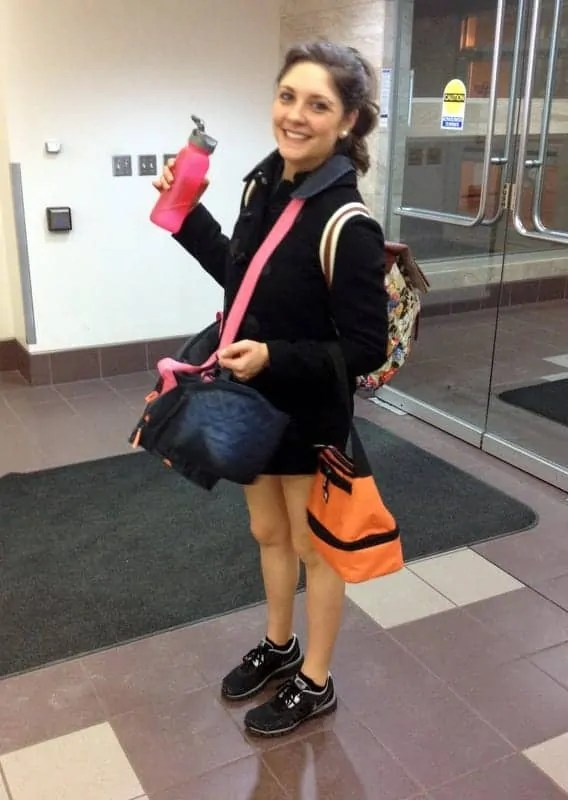 tara with bags