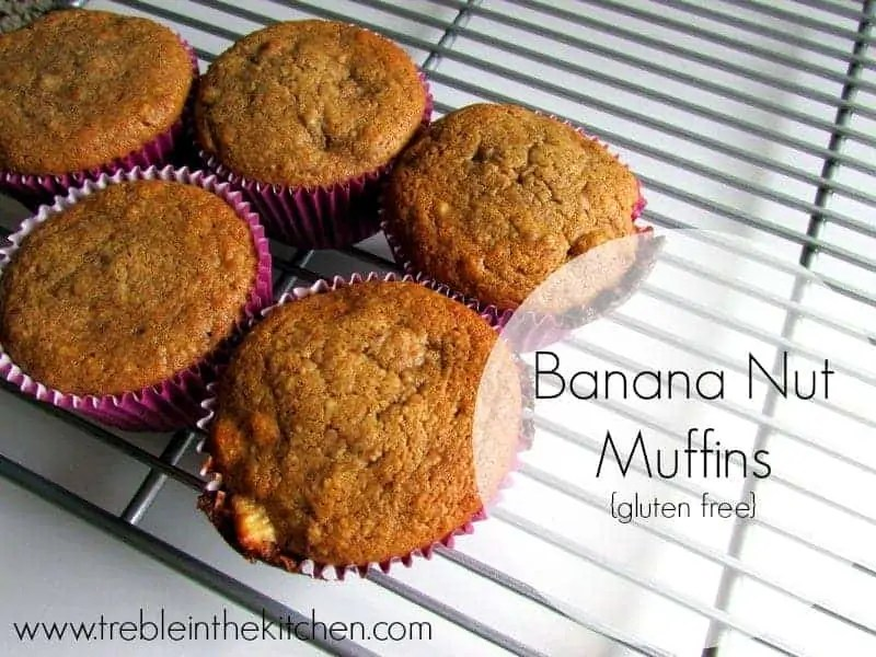 Banana Nut Muffins via Treble in the Kitchen