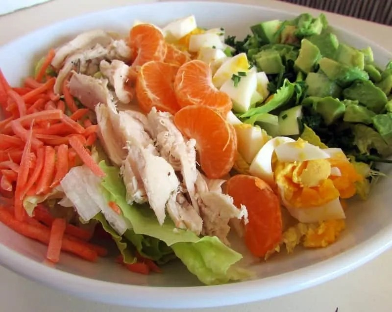 Asian Inspired Cobb Salad via Treble in the Kitchen low FODMAP