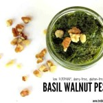 Basil Walnut Pesto {low FODMAP}