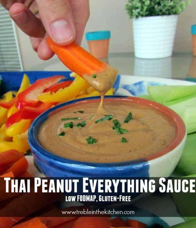 Thai Peanut Everything Sauce via Treble in the Kitchen