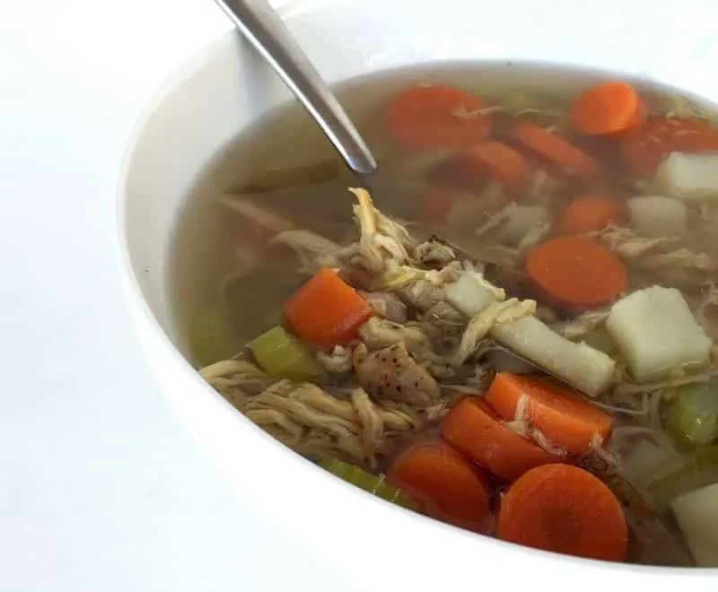 Noodleless Chicken Soup from Treble in the Kitchen low FODMAP, paleo friendly, gluten and grain free