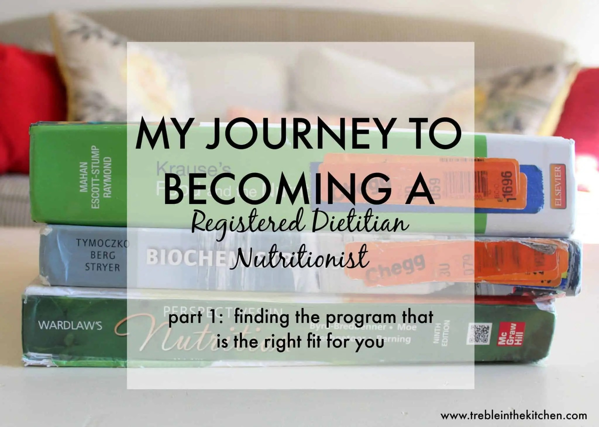 My Journey To Becoming A Registered Dietitian Nutritionist Treble