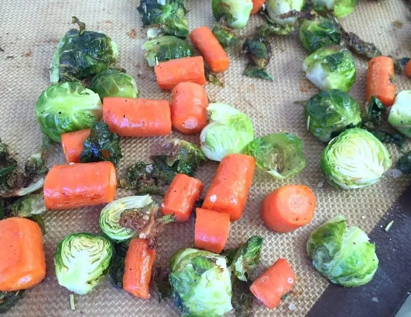 Rosemary Roasted Brussels Sprouts Carrots from Treble in the Kitchen