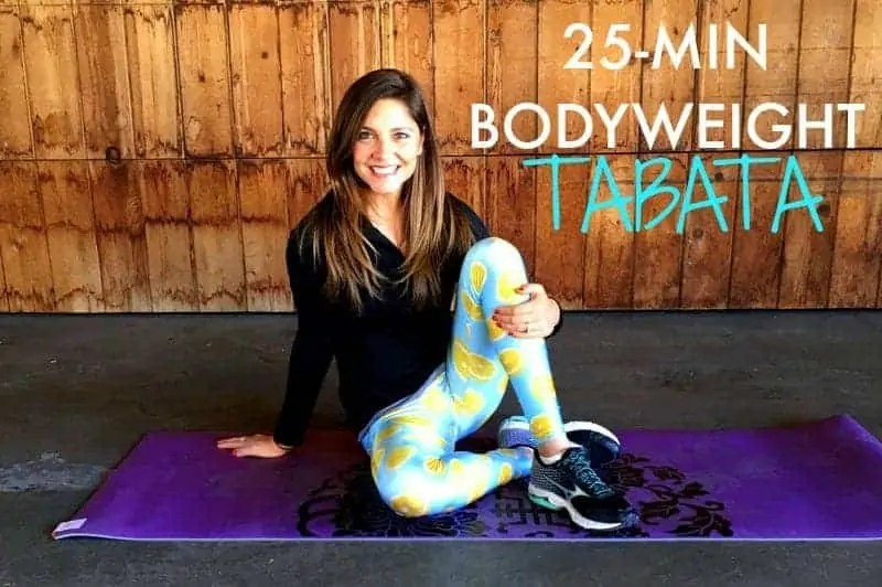 25 MIN TABATA WORKOUT FROM TREBLE IN THE KITCHEN
