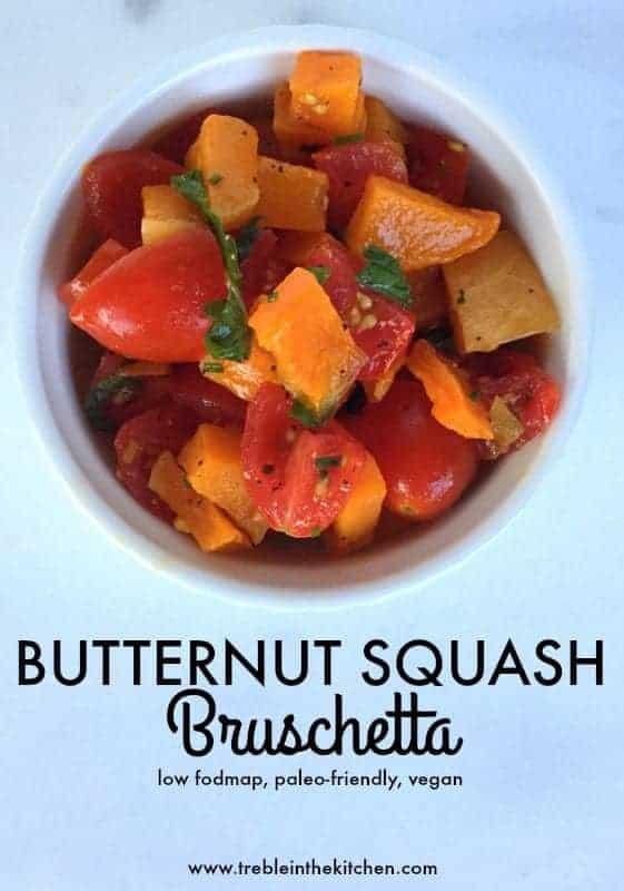 Butternut Squash Bruschetta from Treble in the Kitchen #paleofriendly #lowfodmap #vegan
