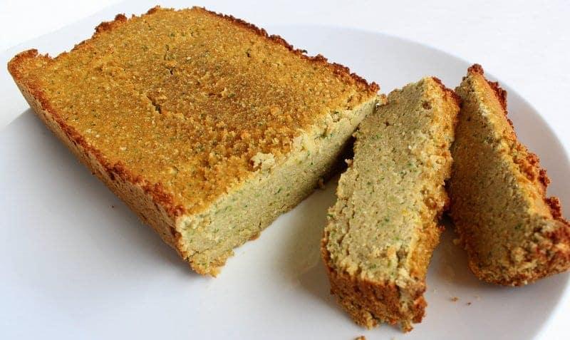Lemon Zucchini Bread made with Coconut Flour Paleo, Gluten Free, Grain Free