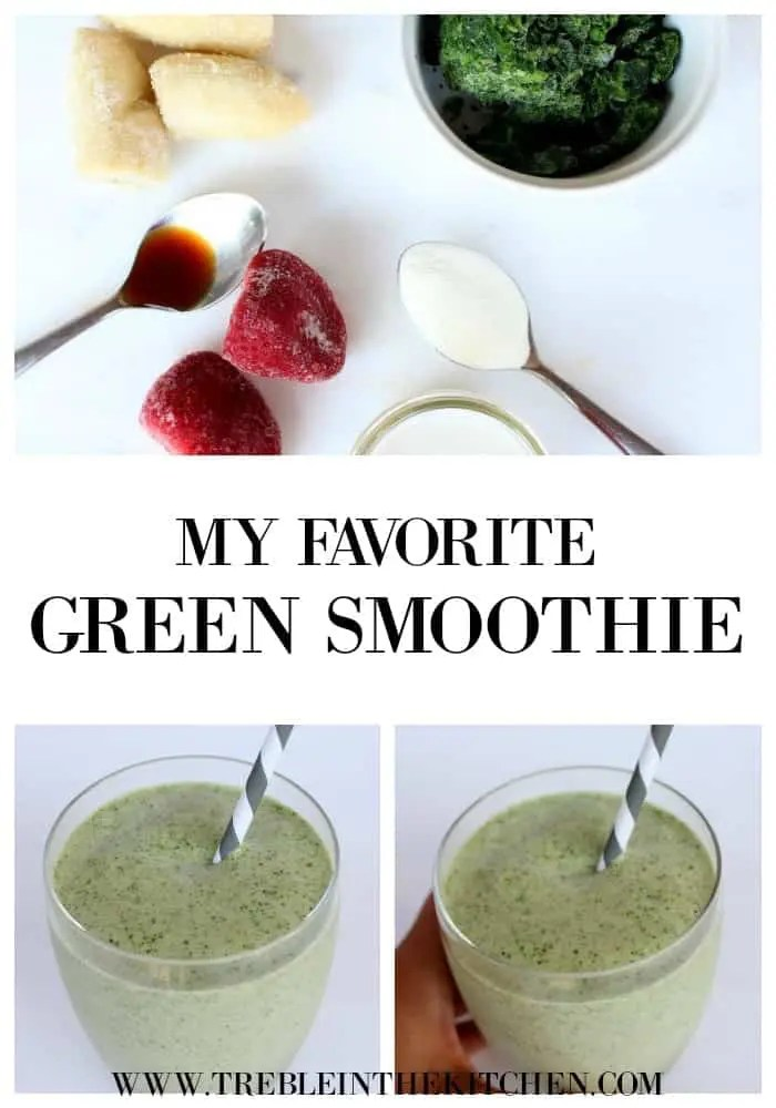 My Favorite Green Smoothie from Treble in the Kitchen