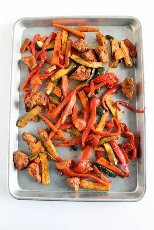 Sheet Pan Fajitas low FODMAP, gluten free, grain free, paleo, whole 30