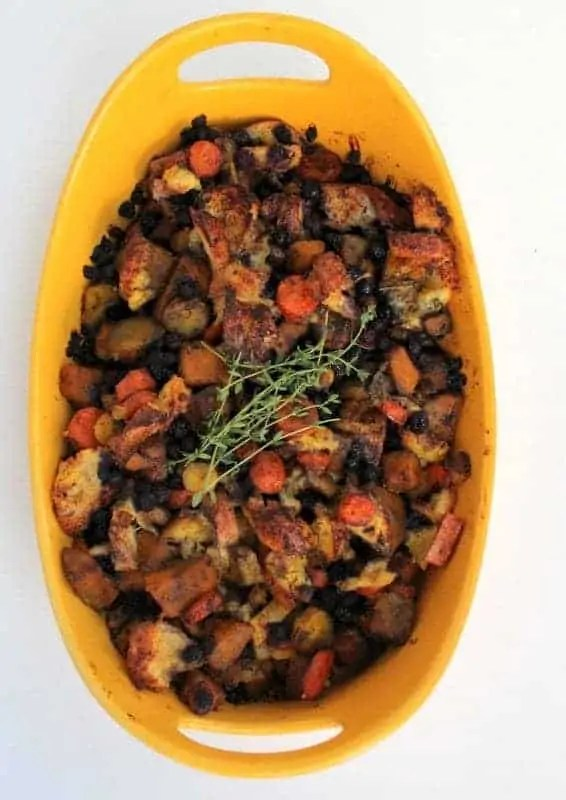 Wild Blueberry Sweet and Savory Stuffing from Treble in the Kitchen low FODMAP