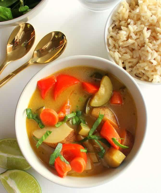 Thai Coconut Lime Soup - low FODMAP, vegan, gluten free
