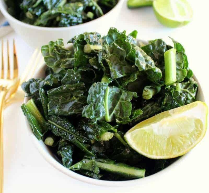 Kale Salad - vegan, low FODMAP, paleo, dairy free, gluten free