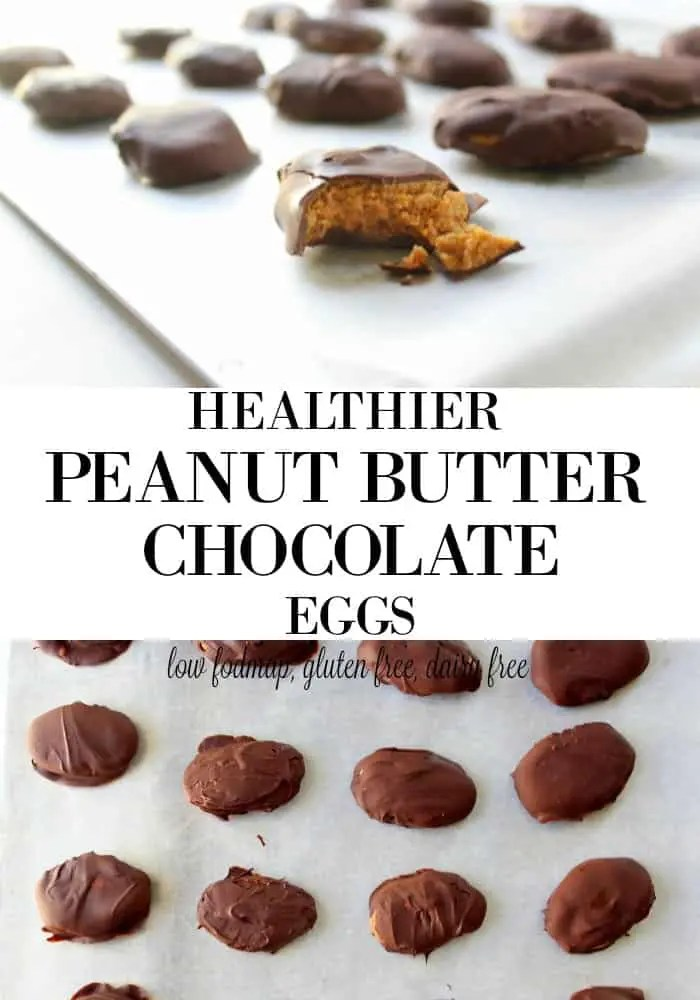 Healthier Homemade Chocolate Peanut Butter Eggs low FODMAP, gluten free, grain free, dairy free