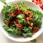 Kale Salad with Walnuts and Pomegranate