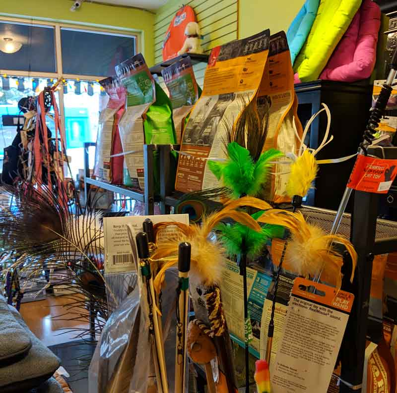 Cat toys and supplies at Tre Bone
