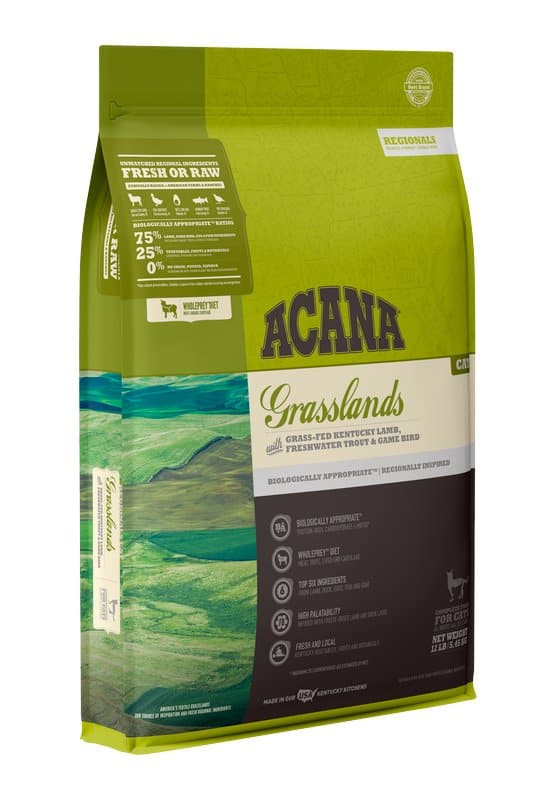 Acana Grasslands for Cat front of bag