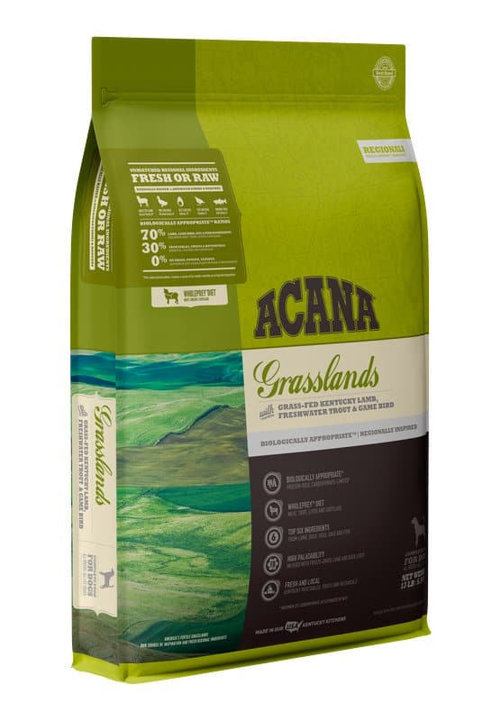 Acana Grasslands for Dogs front of bag