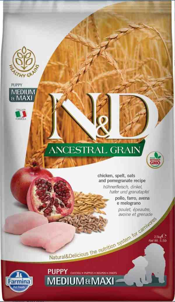 Farmina N&D Ancestral Grain Chicken Pomegranate Puppy