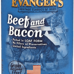 Evanger's Beef & Bacon front of can