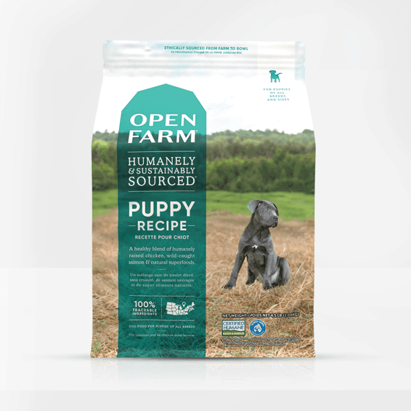 Open Farm Puppy Front of Bag