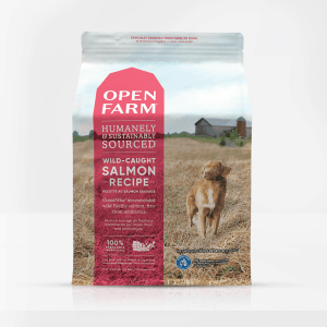 Open Farm Salmon Dog Front of Bag