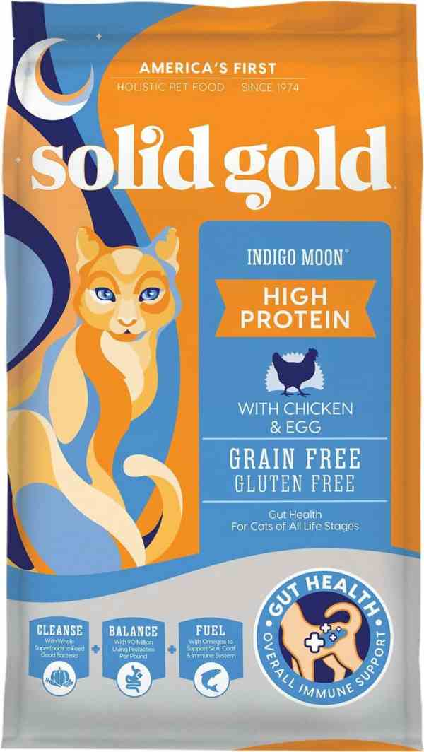 Solid Gold Indigo Moon Front of Bag
