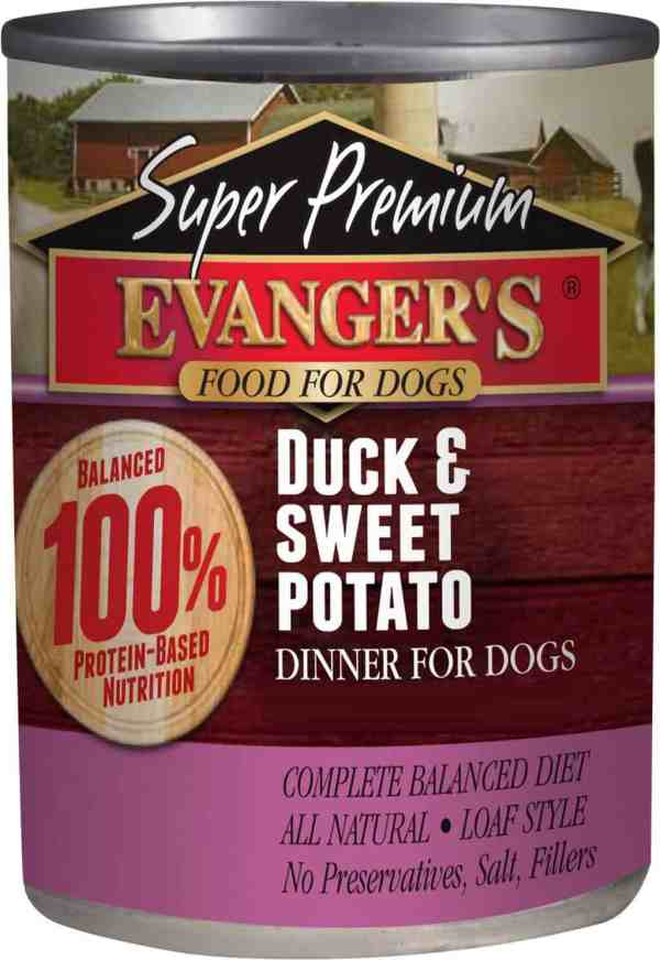 Duck and sweet potato front of can