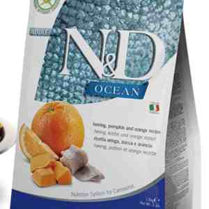 Farmina N&D Herring Pumpkin Orange front of bag cat food