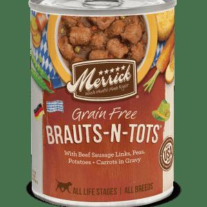 Merrick brauts n tots 12.7oz dog canned food