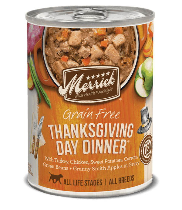 Merrick thanksgiving day dinner canned dog food 12.7oz