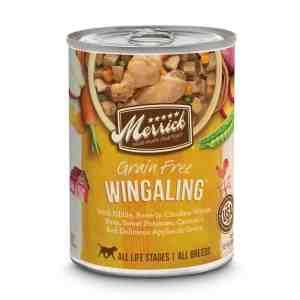 Merrick wingaling canned dog food 12.7oz