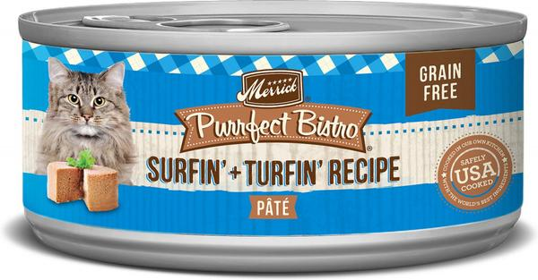 Merrick surfin turfin 5.5oz canned cat food