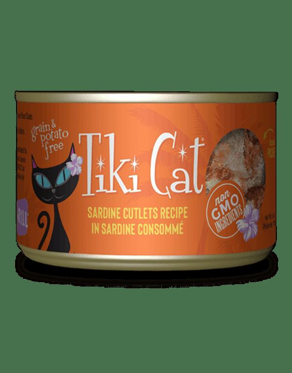 Tiki Cat sardine cutlets canned cat food 2.8oz