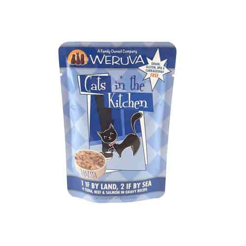 Weruva 1 if by land 2 if by sea pouch cat wet food 3oz