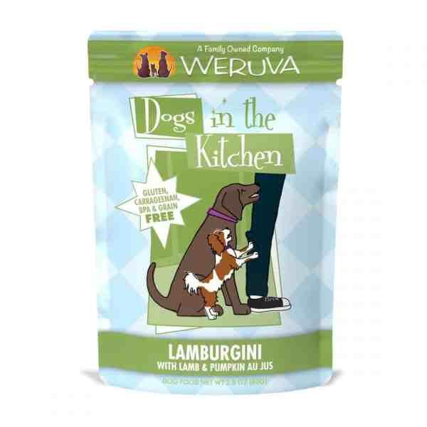 Weruva lamburgini 2.8oz pouch wet dog food