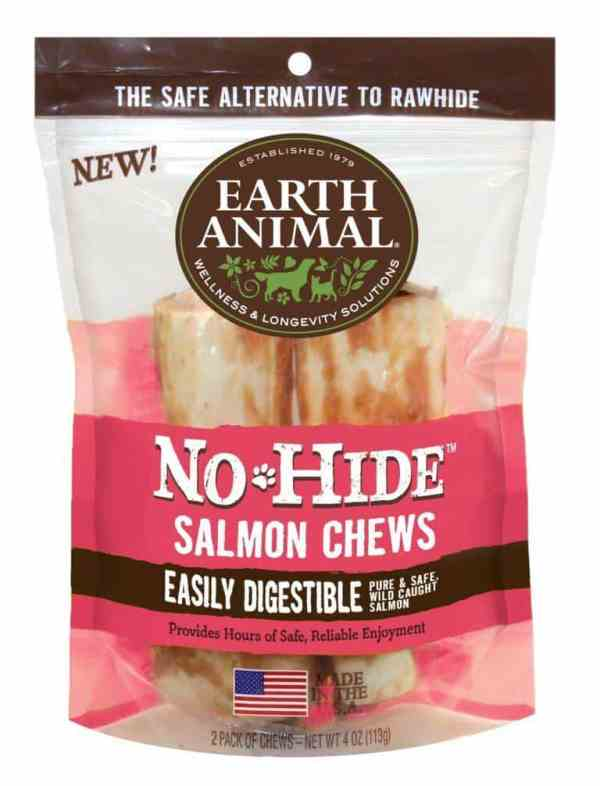 "Earth Animal No Hide Salmon 4"" 2-pack"