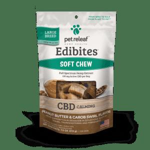 Pet Releaf Edibites large breed carob peanut butter