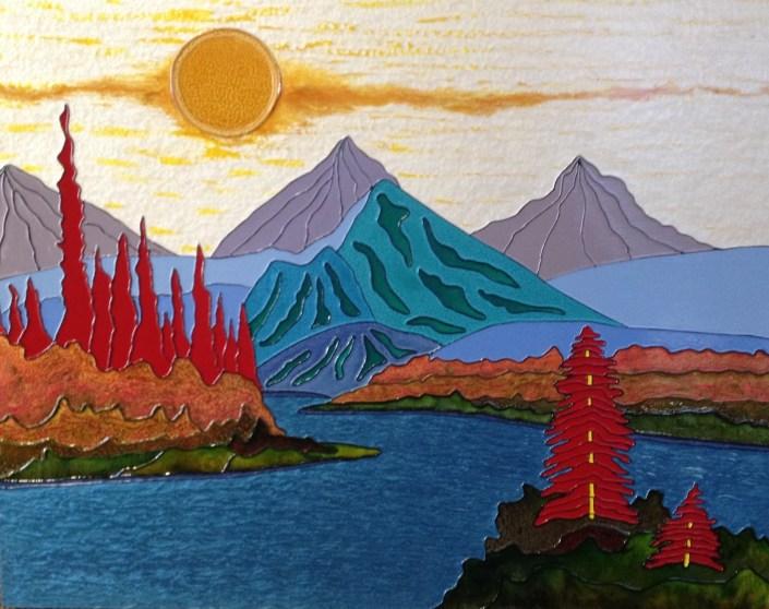 Autumn Splendor - Splendeur d'automne - 22 in. x 28 in. x 1.5 in. - 56 cm. x 71 cm. x 4 cm.