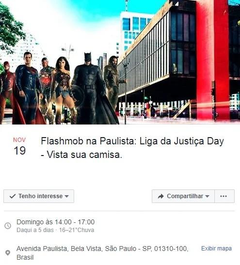 Flashmob convoca fãs de Liga da Justiça em SP. Confira!