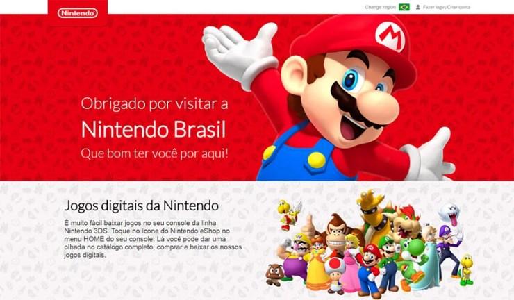 A Nintendo disponibilizou um novo site oficial destinado ao público brasileiro.
